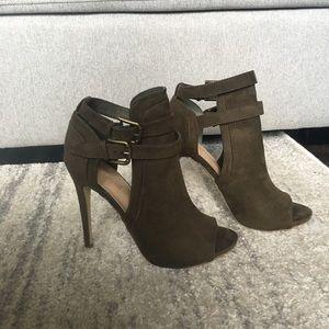 Olive green stiletto heel